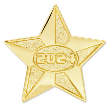 2024 Gold Star Pin Front
