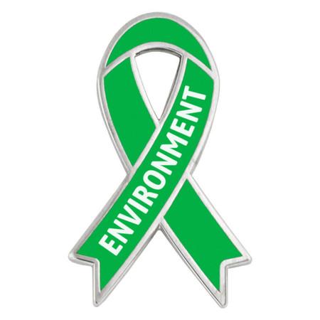Environment Awareness Ribbon Pin Front