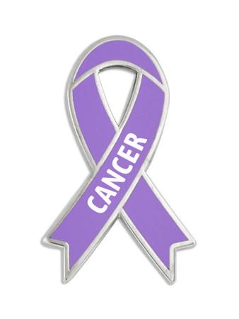 Cancer Awareness Ribbon Pin Front
