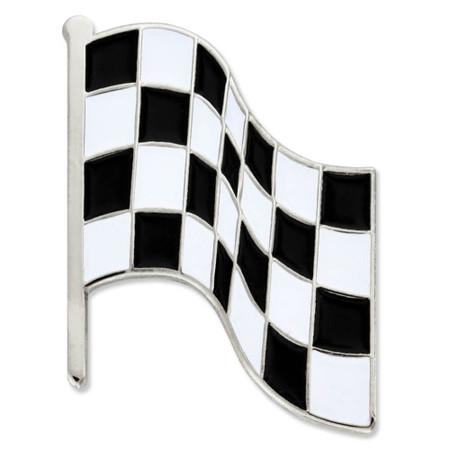 Checkered Racing Flag Pin Front