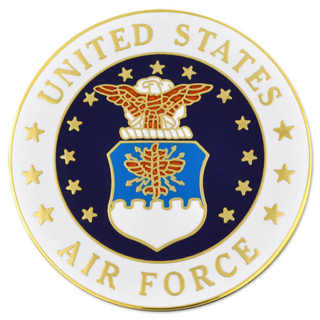Large U.S. Air Force Pin - Officially Licensed Front