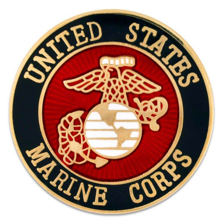 U.S. Marine Corps Pin - Officially Licensed Front