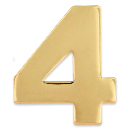 Gold Number 4 Pin Front