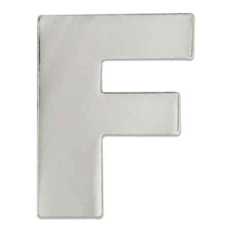 Silver F Pin Front