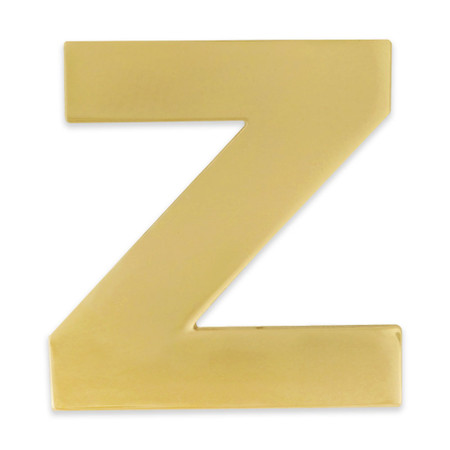 Gold Z Pin Front