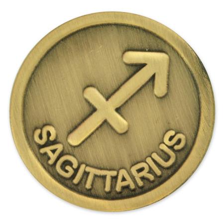 Antique Gold Sagittarius Zodiac Sign Front
