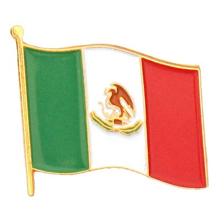 Mexico Flag Pin Front