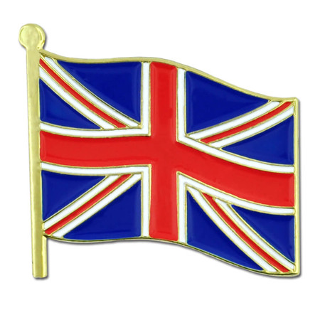 United Kingdom Flag Pin Front