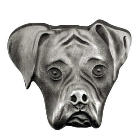 Boxer Dog Pin Front