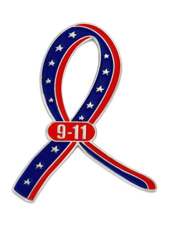 9-11 Ribbon Pin Front