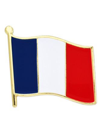 French Flag Pin Front
