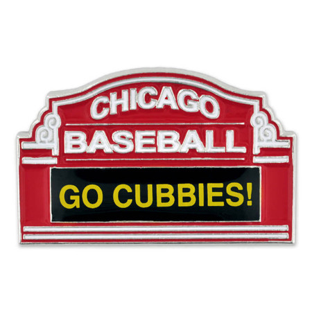 Chicago Baseball Marquee Pin Front