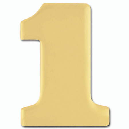 Gold Number 1 Pin Front