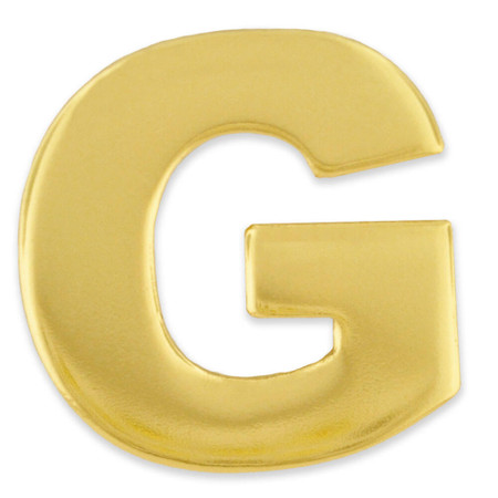 Gold G Pin Front