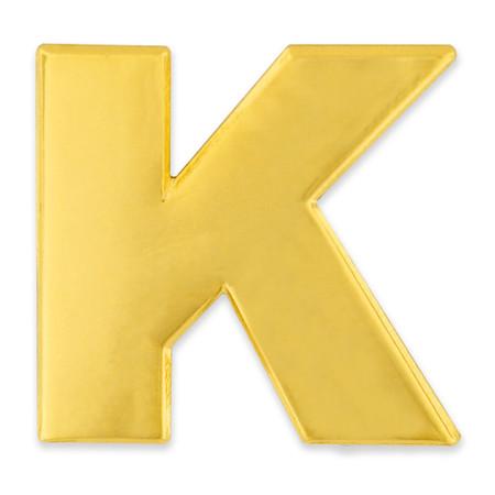 Gold K Pin Front