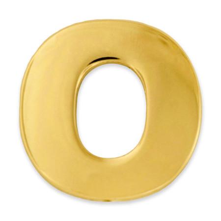 Gold O Pin Front