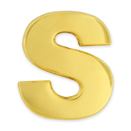 Gold S Pin Front