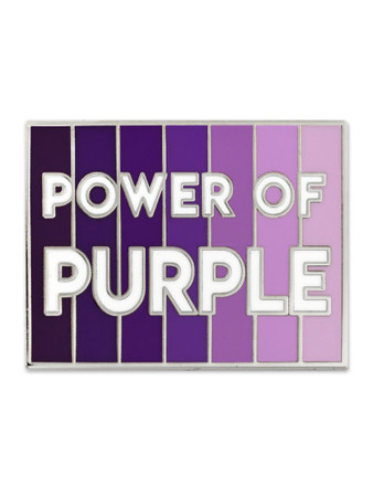 Power Of Purple Pin Front