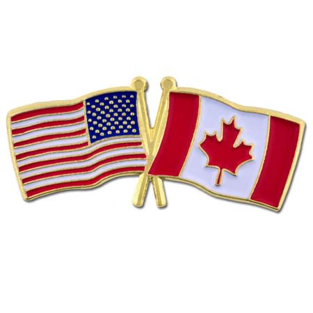 USA and Canada Flag Pin