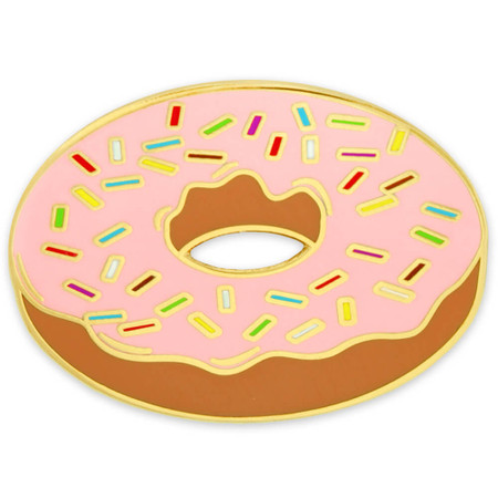 Donut Lapel Pin Front
