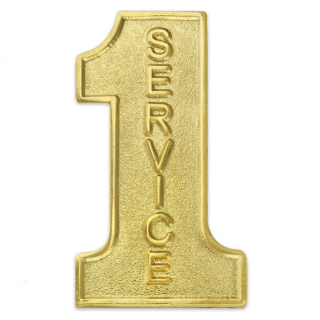 #1 Service Gold Lapel Pin Front