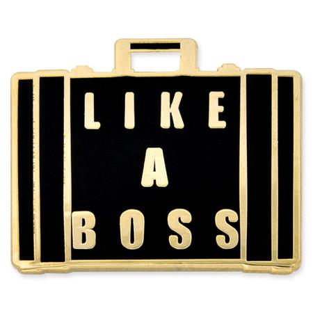 Like A Boss Pin Front