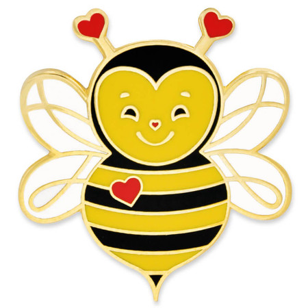 Love Bee Pin Front