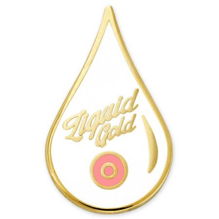 Liquid Gold Lapel Pin Front