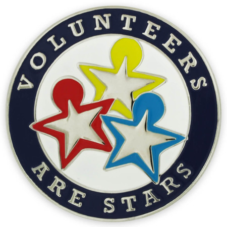 Volunteers are Stars Pin