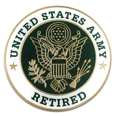 U.S. Army Retired Pin Front