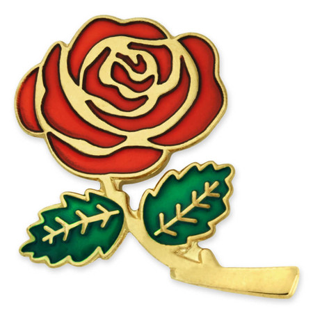 Colored Rose Lapel Pin Front