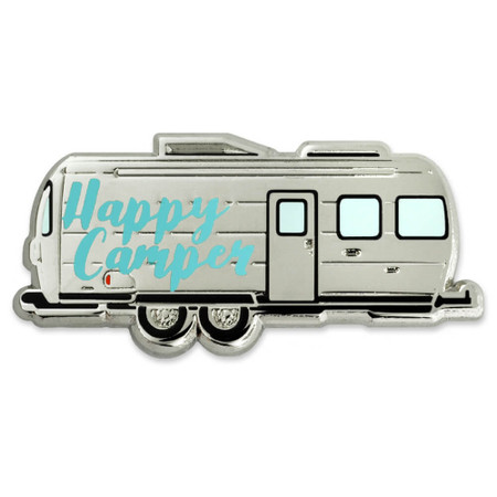 Happy Camper Pin Front