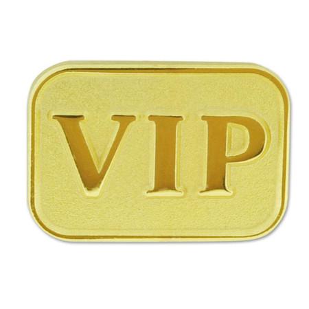 Gold VIP Lapel Pin Front