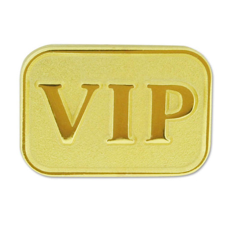 Gold VIP Lapel Pin Front