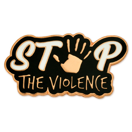 Stop The Violence Pin Front
