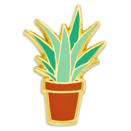 Aloe Plant Pin Front