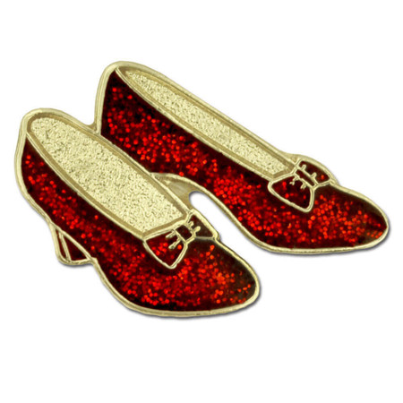 Ruby Red Dance Shoes Pin