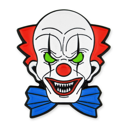 Scary Clown Pin Front