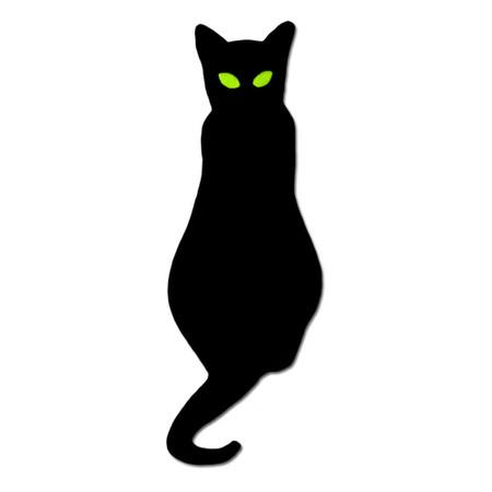 Black Cat Pin Front