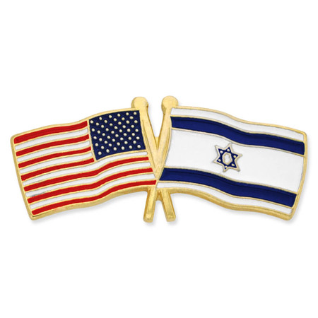 USA and Israel Flag Pin