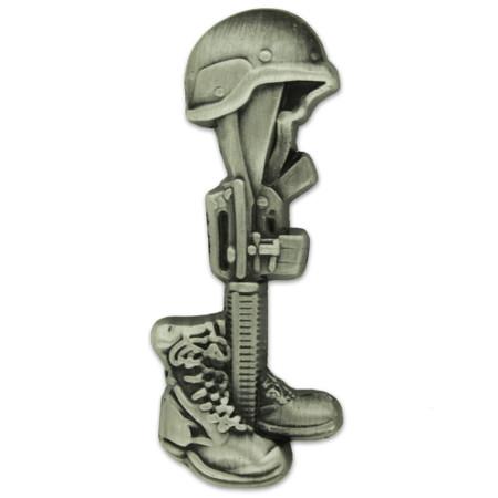 Battle Cross Final Tribute Pin - Antique Nickel