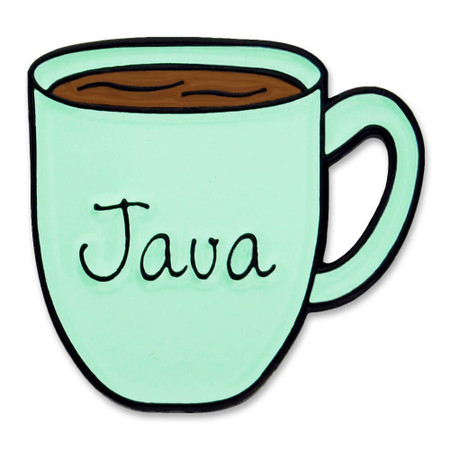 Java Coffee Mug Pin Front