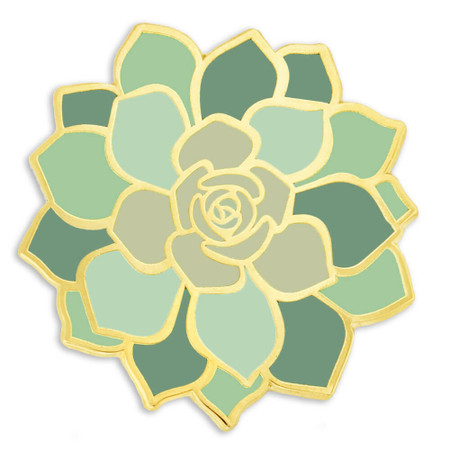 Succulent Flower Pin Front