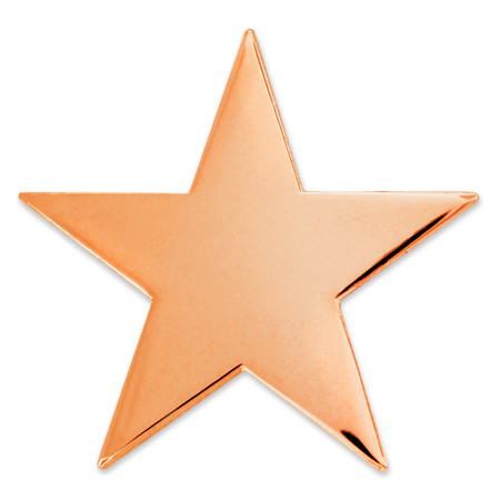 Copper Star Pin with Magnetic Back Front
