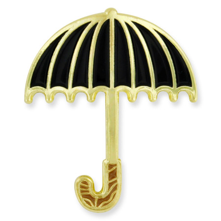 Black Umbrella Lapel Pin Front