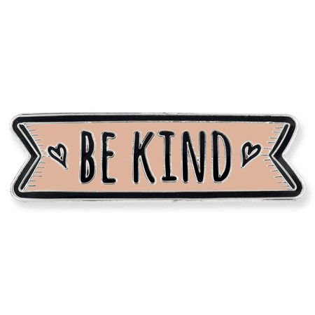 Be Kind Pin - Peach Front