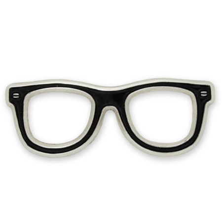 Eyeglasses Lapel Pin Front