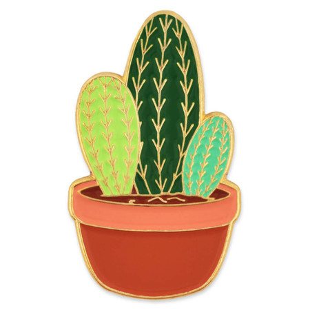 Cactus Lapel Pin Front