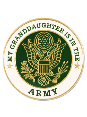 U.S. Army Granddaughter Pin Front