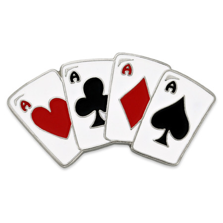 Playing Cards - Aces Pin Front